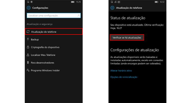 Windows Phone permite baixar novidades do sistema operacional (Foto: Reprodução/Windows)