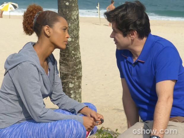 Jonas termina tudo com Verônica após fazer as pazes com Pamela (Foto: Geração Brasil/TV Globo)