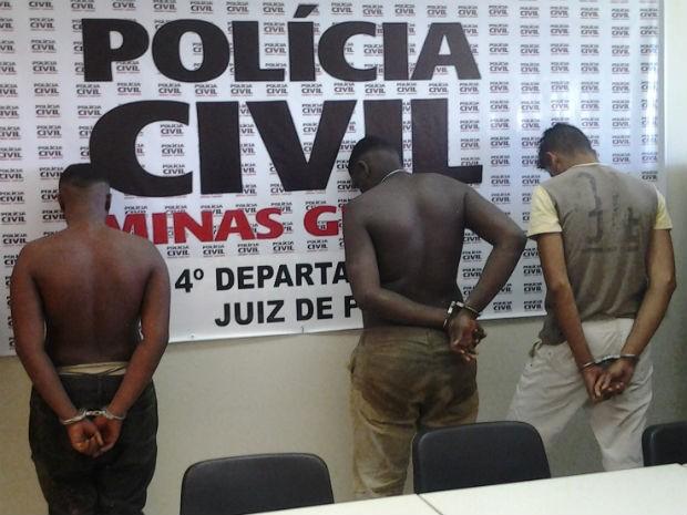 Suspeitos de homicídio em Chiador (Foto: Polícia Civil/Divulgação)