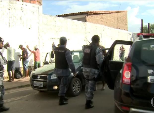 Policiamento foi reforçado nas ruas de São Luís (MA) após ataques (Foto: Reprodução/Globo)