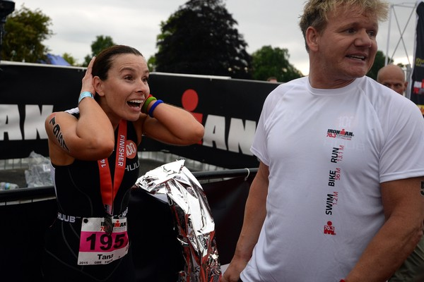 O chef e apresentador de TV Gordon Ramsay após participar de uma corrida na companhia da esposa, a apresentadoraTana Ramsay (Foto: Getty Images)