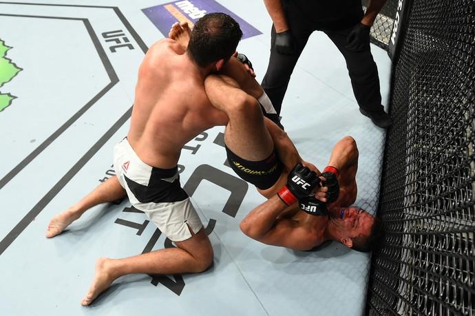 Henrique Frankenstein x Joachim Christensen UFC Portland (Foto: Getty Images)