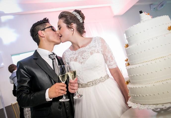 Cristiano e Daiane vão se casar no 'Estúdio C' (mas é surpresa, viu?) (Foto: Divulgação/RPC)