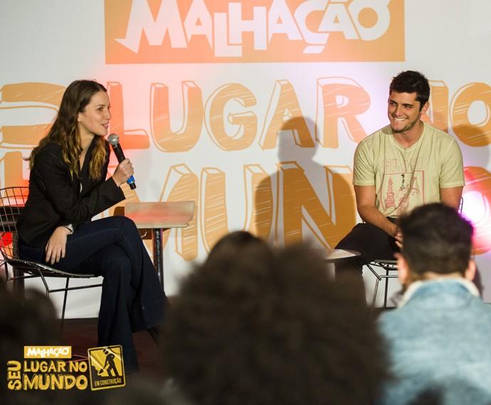 Nathalia Dill e Bruno Gissoni falam sobre seu passado em 'Malhação' (Foto: João Miguel Júnior/TV Globo)