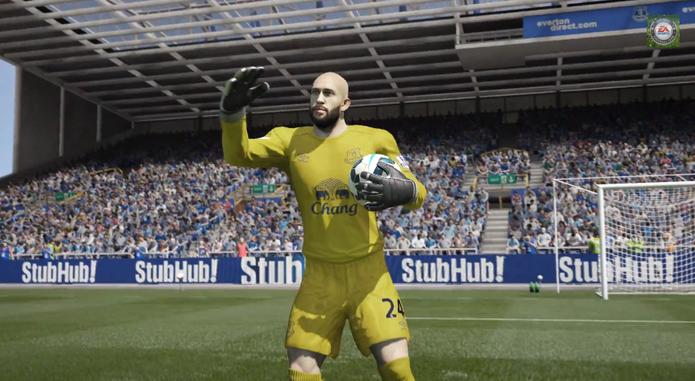 Howard agarra Fifa 15 (Foto: Divulgação)