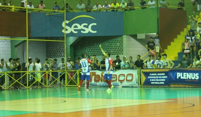 Garapa comemora classificação para Semifinal (Foto: Amanda Lima)