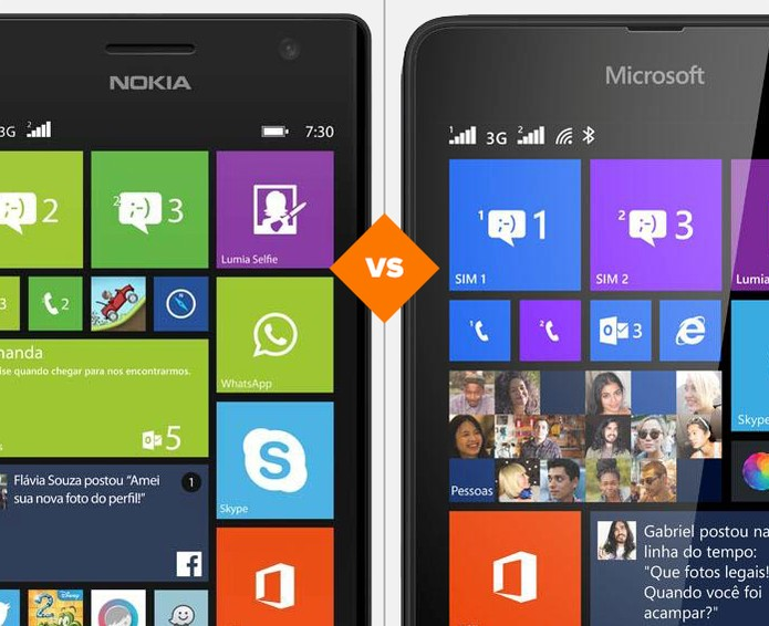 Lumia 730 ou 535: qual celular da Microsoft é o melhor? (Foto: Arte/TechTudo)