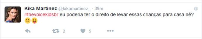 Kika Martinez comenta Audições do The Voice Kids em rede social (Foto: Reprodução)
