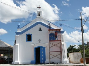 Restauração da Igreja de Nossa Senhora do Rosário em Itaúna (Foto: Prefeitura de Itaúna/Divulgação)