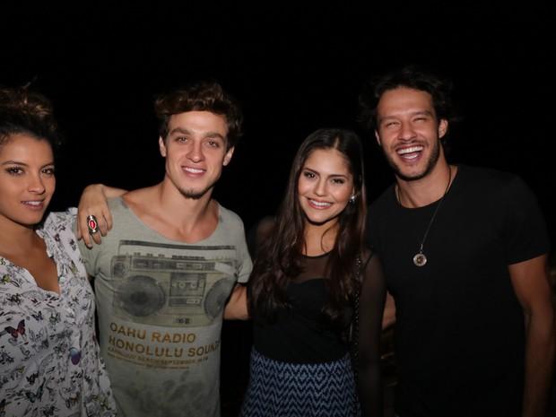 Ana Terra, Gabriel Chadan, Jessika Alves e Nando Rodrigues em festa no Rio (Foto: Fred Pontes/ Divulgação)
