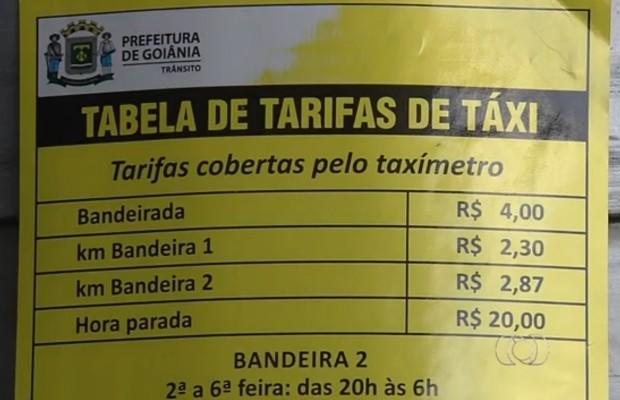 Prefeitura libera novas concessões de taxi em Goiânia, Goiás (Foto: Reprodução/TV Anhanguera)