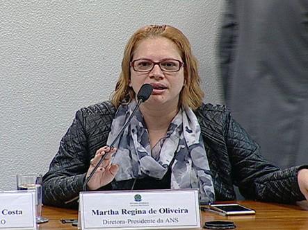 Martha Regina de Oliveira, ex-diretora da ANS (Foto: Senado)