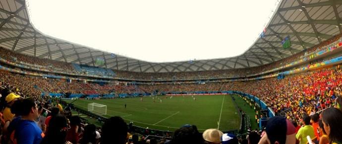 Arena Amazônia Suíça x Honduras (Foto: Isabella Pina)