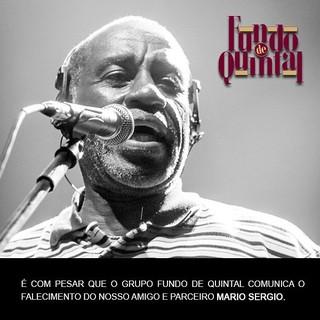 Morre vocalista do grupo Fundo de Quinta, Mário Sérgio (Foto: Reprodução/Facebook)