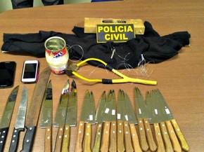 Três pessoas foram presas tentando arremessar 20 facas em presídio de segurança máxima em Rio Branco  (Foto: Evely Dias/Arquivo pessoal)