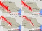 Tempo instável causa cerca de 30 mil raios em 4 horas no interior do Paraná