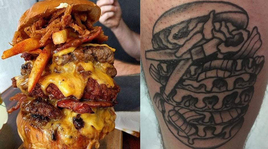 hamburguer tatuagem (Foto: Reprodução/Instagram)