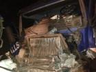 Caminhoneiro fica ferido após acidente em rodovia de Itatinga