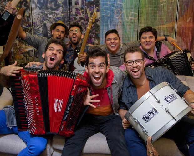 'Os Gonzagas' foi a última banda a garantir seu espaço no SuperStar (Foto: Fabiano Battaglin/Gshow)