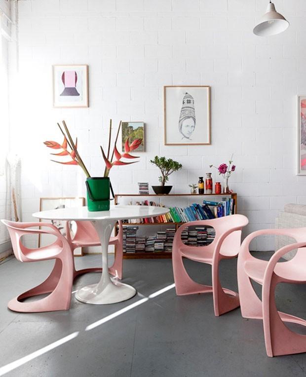 top 10 sala de jantar rosa (Foto: Divulgaçao)
