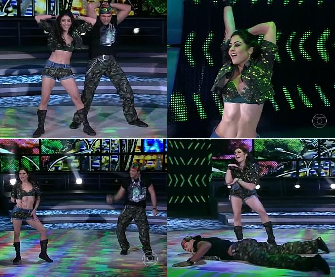 Carol Castro: boa forma e muito rebolado no funk do 'Dança dos Famosos 2013' (Foto: TV Globo)