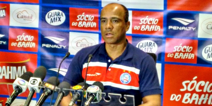 Sérgio Soares durante entrevista coletiva na Fonte Nova (Foto: Divulgação/E.C. Bahia)