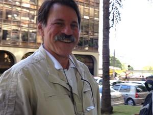 Delúbio Soares retorna ao trabalho, em Brasília, após receber autorização do STF (Foto: Natalia Godoy / G1)