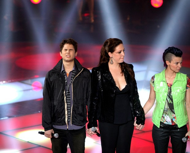 Gabriel, Greicy e Maria (Foto: The Voice Brasil/TV Globo)