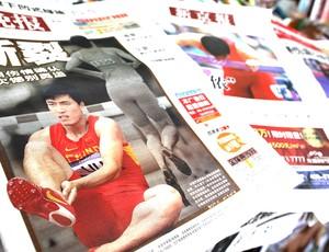 jornais China Liu Xiang  (Foto: EFE)