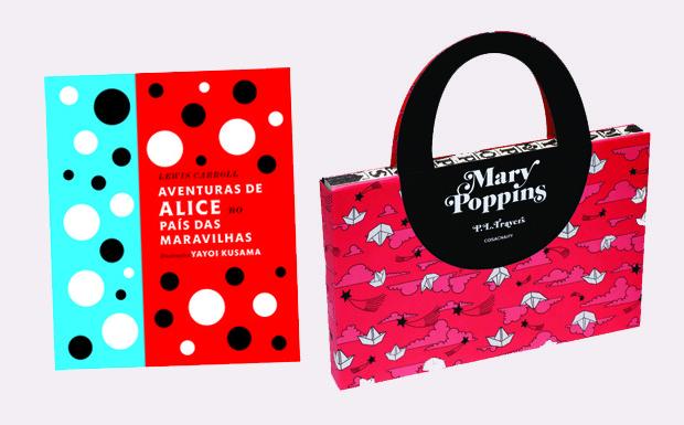 Livros Mary Poppins e Alice no Pas das Maravilhas (Foto: Reproduo/Cosac Naify e Reproduo/Globo Livros)