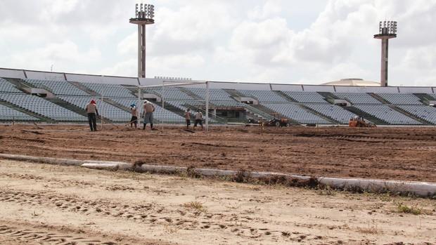 obras no Estádio Almeidão (Foto: Divulgação / MPPB)
