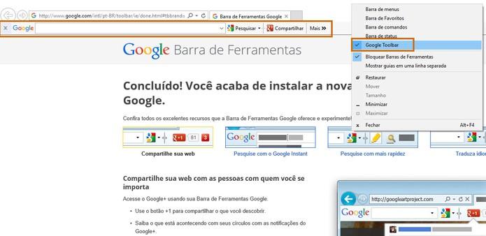 A Barra de Ferramentas do Google será instalada no Internet Explorer (Foto: Reprodução/Barbara Mannara)
