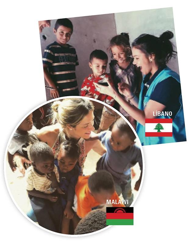 Bruna Marquezine se emocionou no abrigo temporário para crianças desacompanhadas. Gio Ewbank conheceu a filha, Titi, durante missão no Malawi (Foto: .)