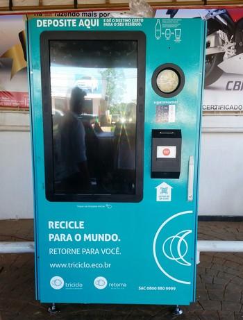 Máquina troca de ingressos  (Foto: Duaine Rodrigues)