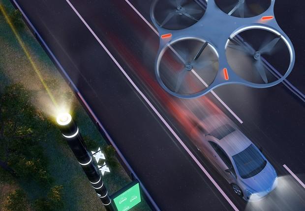 Os drones serão capazes de monitorar as estradas (Foto: Dexigner)