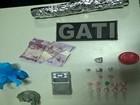 Suspeitos de tráfico de drogas são presos com maconha e cocaína