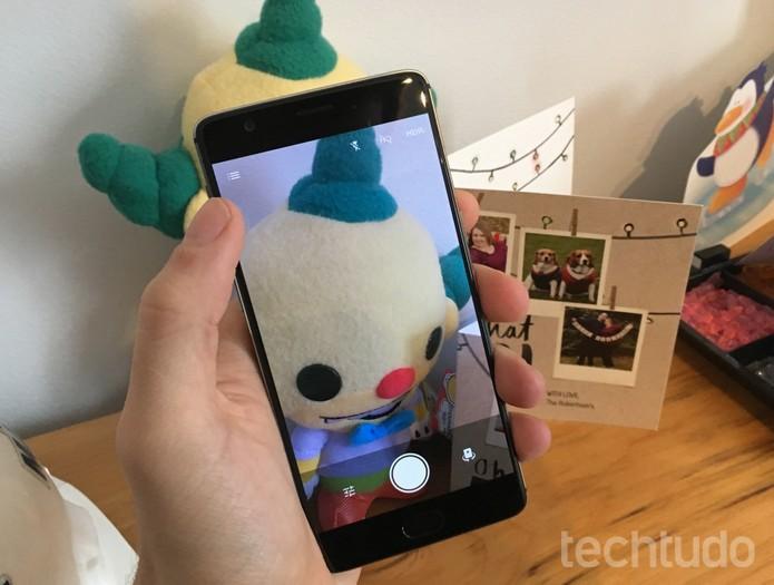 Aplicativo de câmera do OnePlus 3T é simples e fácil de usar (Foto: Elson de Souza/TechTudo)