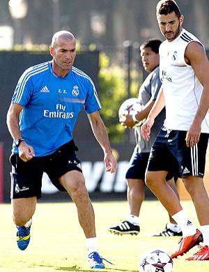 Zidane treino Real Madrid (Foto: EFE)