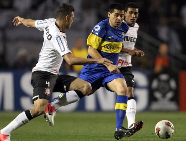 Riquelme Boca Juniors x Corinthians (Foto: Reuters)
