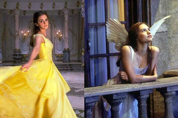 Emma Watson em 'A Bela e a Fera' (2017) e Claire Danes como Julieta no filme 'Romeu + Julieta' (1996) (Foto: Divulgação)
