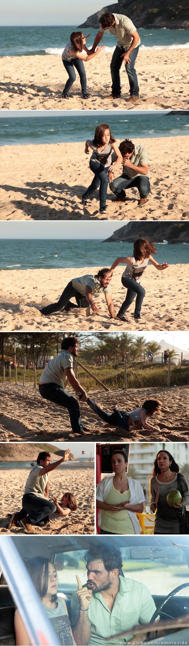Paulinha tenta fugir (Foto: Amor à Vida/ TV Globo)