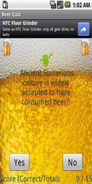 Teste de Cerveja