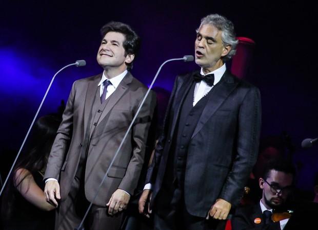 Daniel e Andrea Bocelli (Foto: Rafael Cusato/Brazil News)