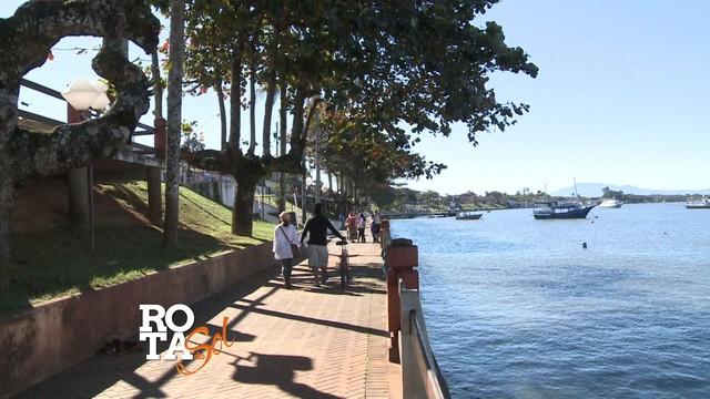 Rota do Sol em Cananeia, litoral sul de São Paulo (Foto: Reprodução/TV Tribuna)