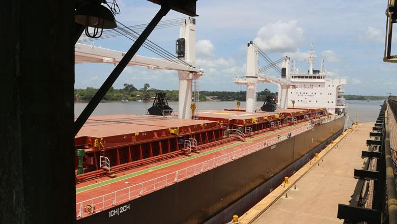 soja-amapá-porto-navio-europa (Foto: Eliane Silva/Editora Globo)
