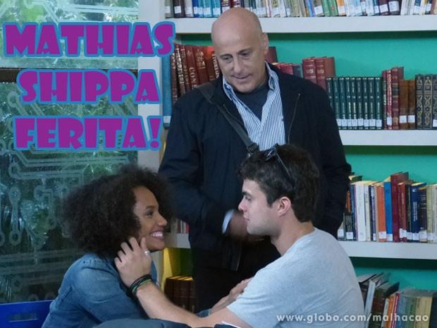 Até o Mathias shippou, glr! (Foto: Malhação / Tv Globo)