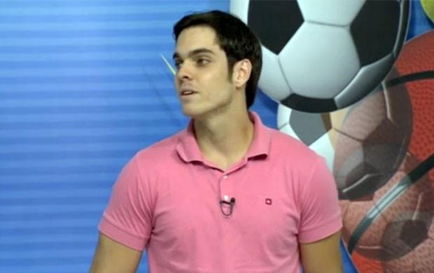 Piloto Victor Corrêa, de Alfenas, no quadro de esportes do Jornal da EPTV (Foto: Reprodução EPTV)