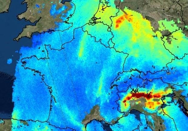 O satélite Sentinel-5P da Agência Espacial Europeia (ESA, na sigla original) foi lançado em novembro com a missão de monitorar a poluição ambiental na Terra (Foto: ESA)