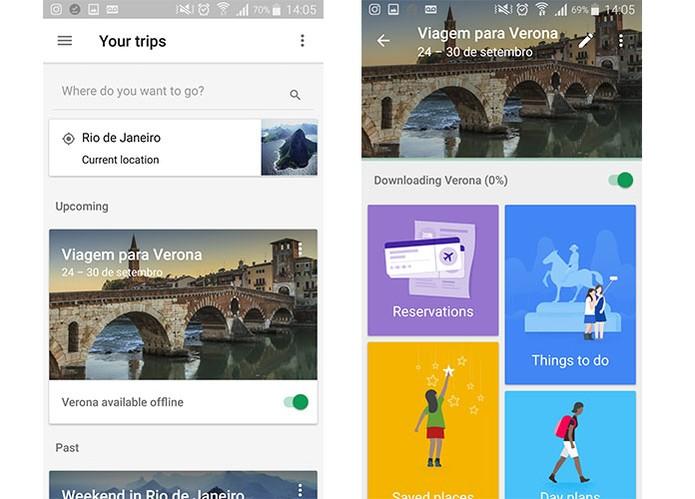Google Trips permite salvar informações de viagens de forma organizada (Foto: Reprodução/Barbara Mannara)