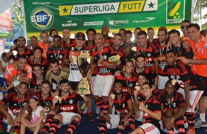 Flamengo é campeão da Superliga FUT 7, o campeonato brasileiro de futebol 7 (Foto: Leonardo Santos/JornalF7.com)